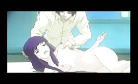 Purple Haired Hentai Teen Has a Late Night Fuck