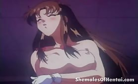 Hentai Shemale With a Big Round Booty Has Her Cock Sucked On